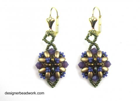Earrings - Summertime - Purple